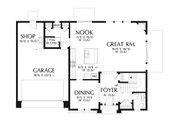 Craftsman Style House Plan - 4 Beds 2.5 Baths 2535 Sq/Ft Plan #48-932 Floor Plan - Main Floor