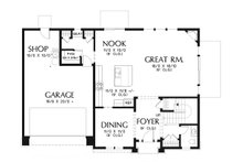 Craftsman Floor Plan - Main Floor Plan Plan #48-932