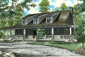 Country Exterior - Front Elevation Plan #17-652