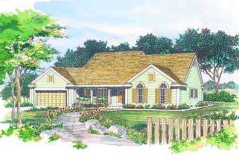 Traditional Exterior - Front Elevation Plan #72-116 - Houseplans.com