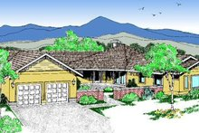 Traditional Exterior - Front Elevation Plan #60-197