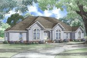 European Style House Plan - 3 Beds 2.5 Baths 2742 Sq/Ft Plan #17-1039 Exterior - Other Elevation