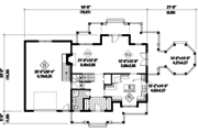 Country Style House Plan - 2 Beds 2 Baths 2571 Sq/Ft Plan #25-4686 Floor Plan - Main Floor Plan