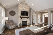 Craftsman Style House Plan - 3 Beds 2 Baths 1473 Sq/Ft Plan #929-428 Interior - Family Room
