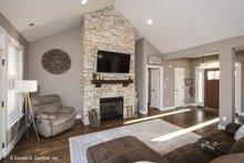 Architectural House Design - Craftsman Interior - Family Room Plan #929-428