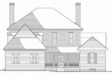 Colonial Exterior - Rear Elevation Plan #137-229