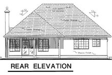 House Design - Traditional Exterior - Rear Elevation Plan #18-190