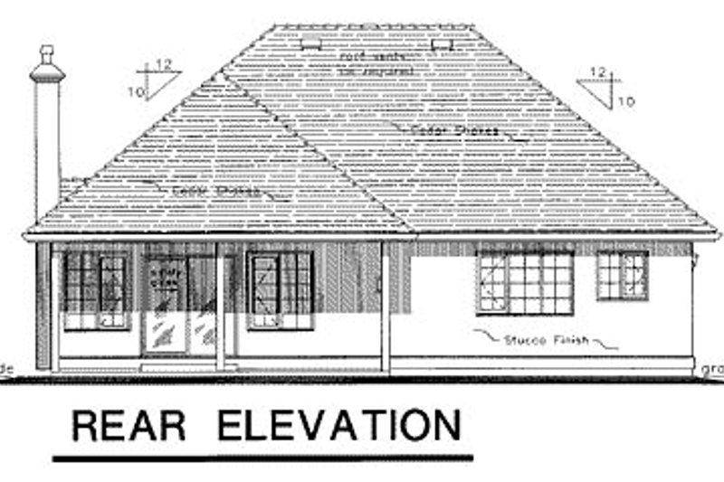 Traditional Exterior - Rear Elevation Plan #18-190 - Houseplans.com