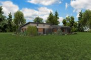 Contemporary Style House Plan - 4 Beds 2.5 Baths 2699 Sq/Ft Plan #48-1014 Exterior - Other Elevation