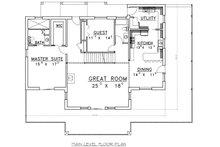 Log Floor Plan - Main Floor Plan Plan #117-560