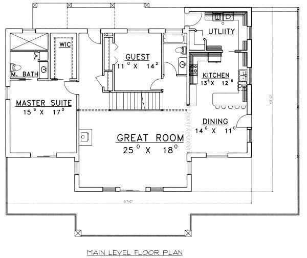 Dream House Plan - Log Floor Plan - Main Floor Plan #117-560
