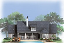 Home Plan - Country Exterior - Rear Elevation Plan #929-259