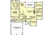 European Style House Plan - 4 Beds 2.5 Baths 2459 Sq/Ft Plan #430-139 Floor Plan - Main Floor