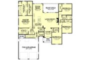 European Style House Plan - 4 Beds 2.5 Baths 2459 Sq/Ft Plan #430-139 Floor Plan - Main Floor Plan