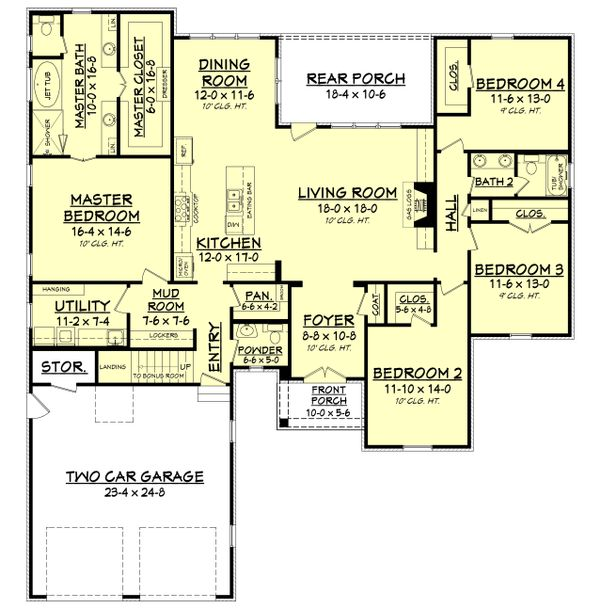 European Floor Plan - Main Floor Plan Plan #430-139
