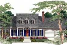 House Design - Southern Exterior - Front Elevation Plan #406-197
