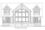 Bungalow Style House Plan - 4 Beds 2.5 Baths 2427 Sq/Ft Plan #117-736 Exterior - Rear Elevation