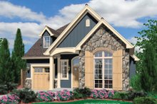 Cottage Exterior - Front Elevation Plan #48-374