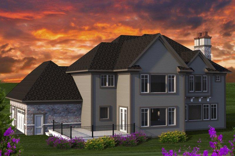 Tudor Exterior - Rear Elevation Plan #70-1205 - Houseplans.com
