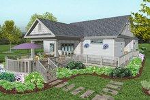 Architectural House Design - Craftsman Exterior - Rear Elevation Plan #56-709
