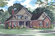 European Style House Plan - 4 Beds 3 Baths 2819 Sq/Ft Plan #17-1170 Exterior - Front Elevation