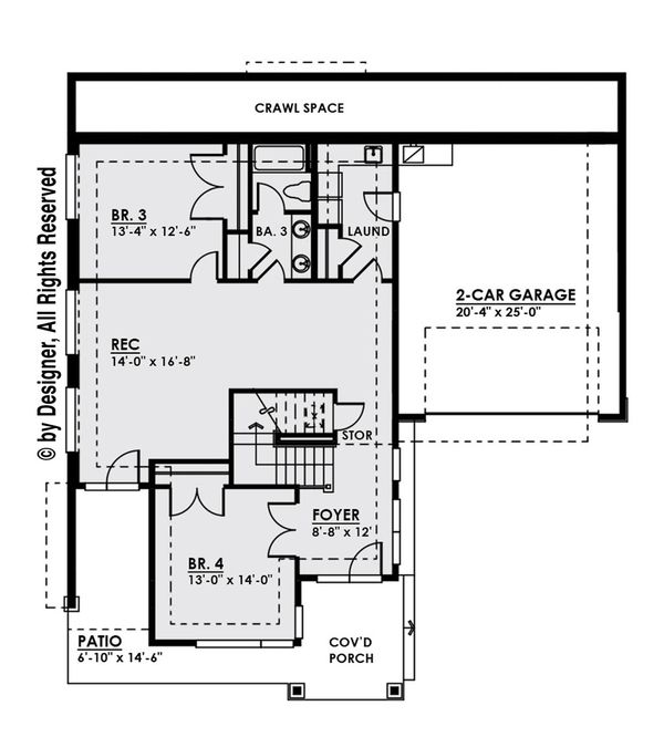 Contemporary Floor Plan - Main Floor Plan Plan #1066-8