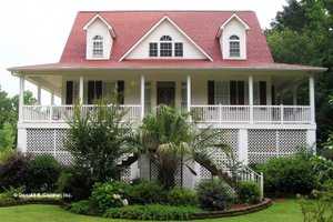 Country Exterior - Front Elevation Plan #929-37