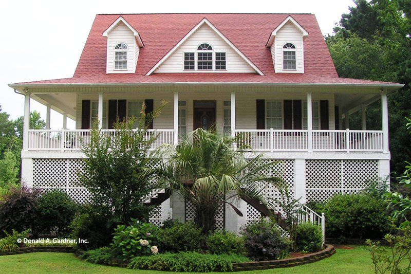 Architectural House Design - Country Exterior - Front Elevation Plan #929-37