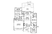 Farmhouse Floor Plan - Main Floor Plan Plan #929-1095