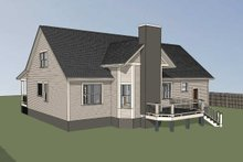 Home Plan - Country Exterior - Rear Elevation Plan #79-221