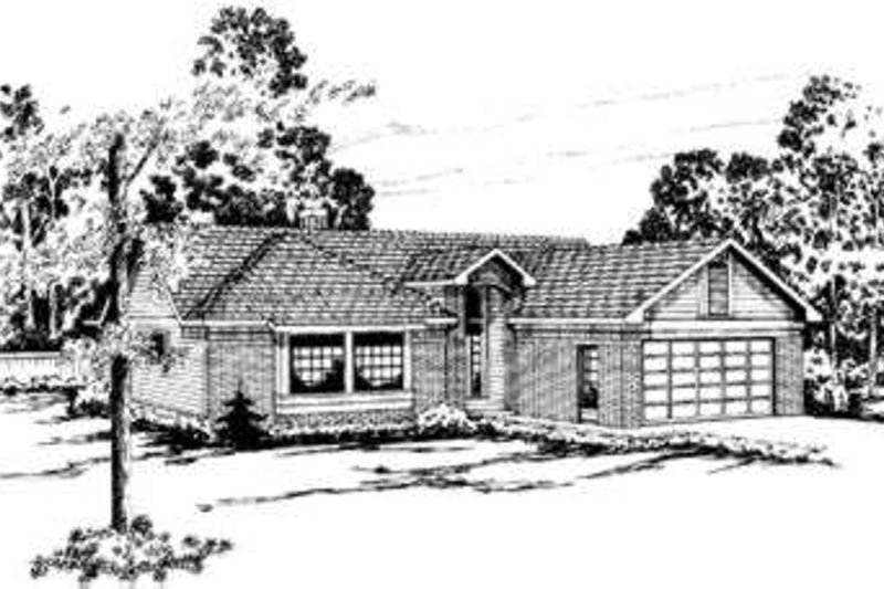 Modern Exterior - Front Elevation Plan #124-148 - Houseplans.com