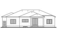 House Design - Contemporary Exterior - Rear Elevation Plan #1073-20