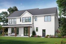 House Plan Design - Contemporary Exterior - Rear Elevation Plan #48-986