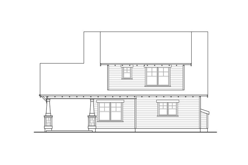 Craftsman Exterior - Rear Elevation Plan #124-844 - Houseplans.com