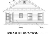 Cottage Style House Plan - 3 Beds 2 Baths 1163 Sq/Ft Plan #513-2071 Exterior - Rear Elevation