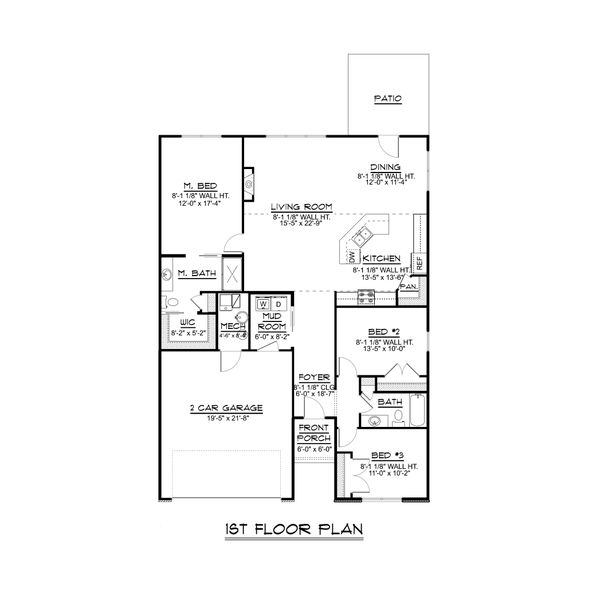 Dream House Plan - Ranch Floor Plan - Main Floor Plan #1064-65