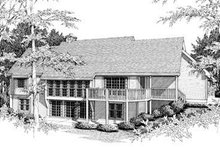 Dream House Plan - Country Exterior - Rear Elevation Plan #57-125