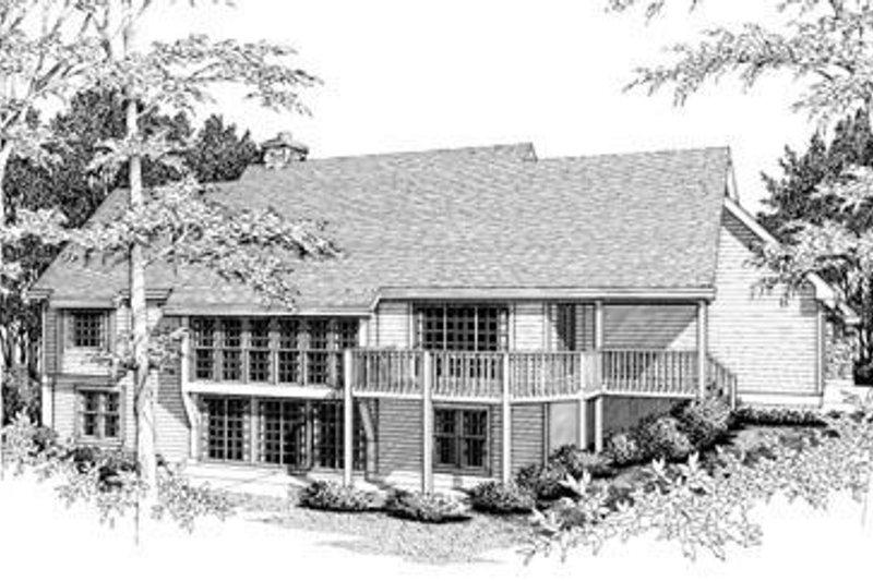 Country Exterior - Rear Elevation Plan #57-125 - Houseplans.com