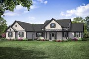 Ranch Style House Plan - 3 Beds 2.5 Baths 2779 Sq/Ft Plan #124-1105 Exterior - Front Elevation