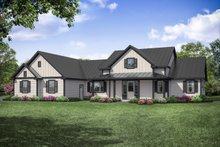 Ranch Exterior - Front Elevation Plan #124-1105