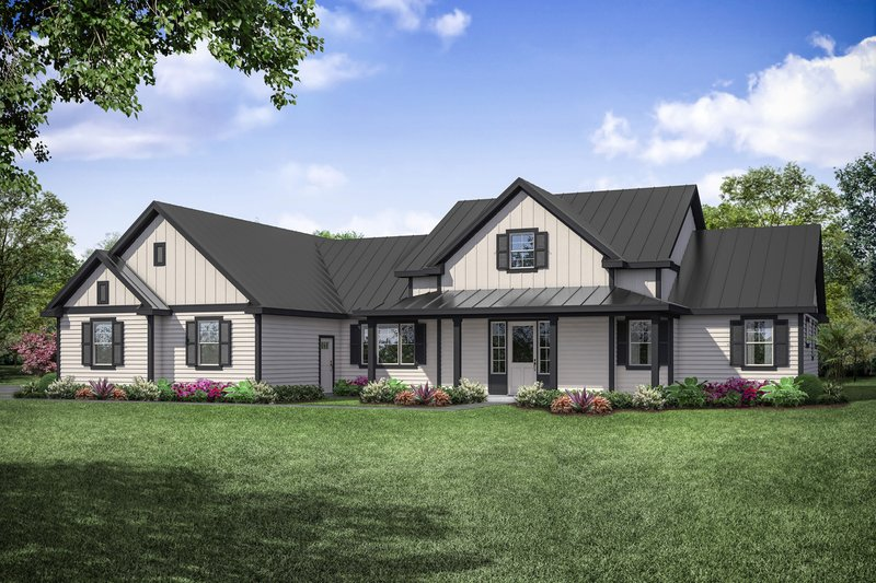 House Plan Design - Ranch Exterior - Front Elevation Plan #124-1105