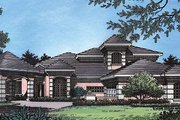 European Style House Plan - 4 Beds 3.5 Baths 3290 Sq/Ft Plan #417-375