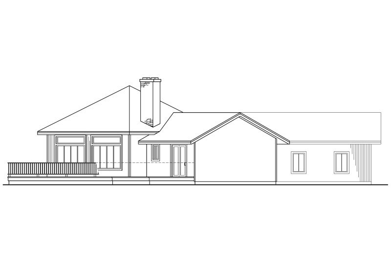 Contemporary Exterior - Other Elevation Plan #124-162 - Houseplans.com