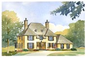 European Style House Plan - 4 Beds 2.5 Baths 2998 Sq/Ft Plan #901-79 Exterior - Front Elevation