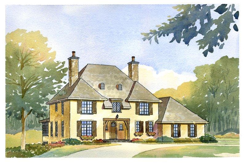 European Style House Plan - 4 Beds 2.5 Baths 2998 Sq/Ft Plan #901-79