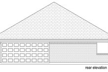 Home Plan - Traditional Exterior - Rear Elevation Plan #84-580