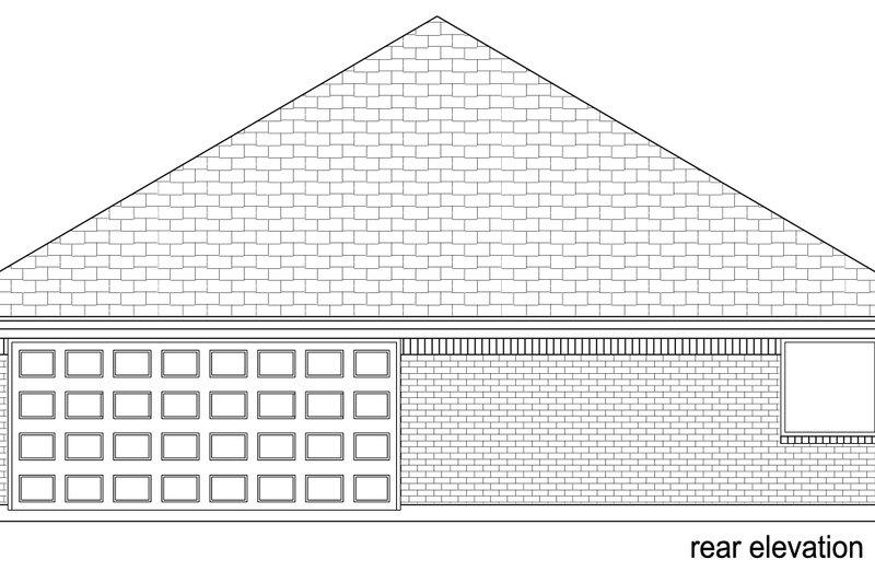 Traditional Exterior - Rear Elevation Plan #84-580 - Houseplans.com