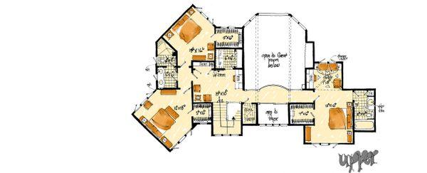 Prairie Floor Plan - Upper Floor Plan Plan #942-37