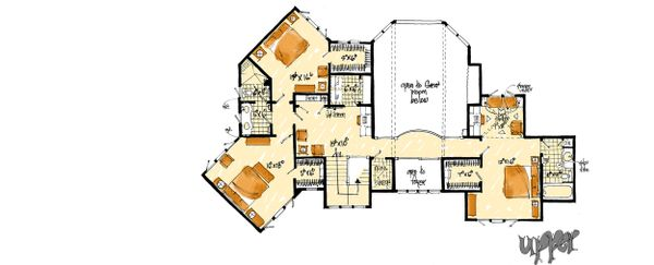 Prairie Floor Plan - Upper Floor Plan Plan #942-37