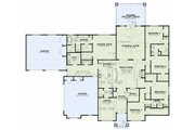 Craftsman Style House Plan - 5 Beds 3.5 Baths 3580 Sq/Ft Plan #17-2609 Floor Plan - Main Floor Plan
